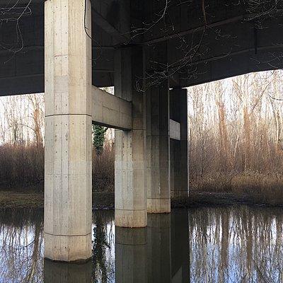 Österreich, Brücke bei Fischamend - p1401m2244784 von Jens Goldbeck