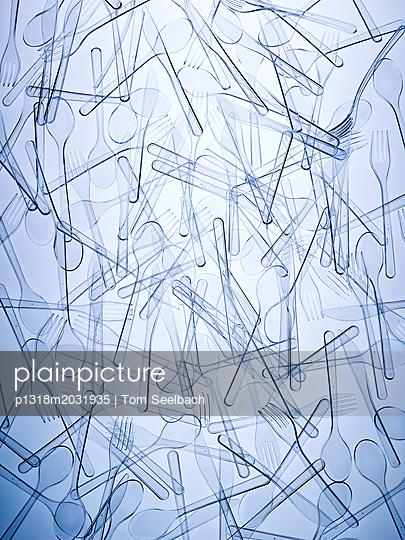Strukturen Plastik Besteck - p1318m2031935 von Tom Seelbach