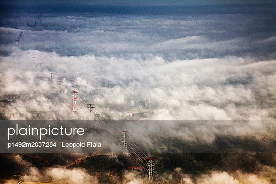 Wolken über einem Windpark - p1492m2037284 von Leopold Fiala