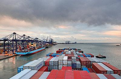 Harbour of Felixstowe - p1099m882912 by Sabine Vielmo