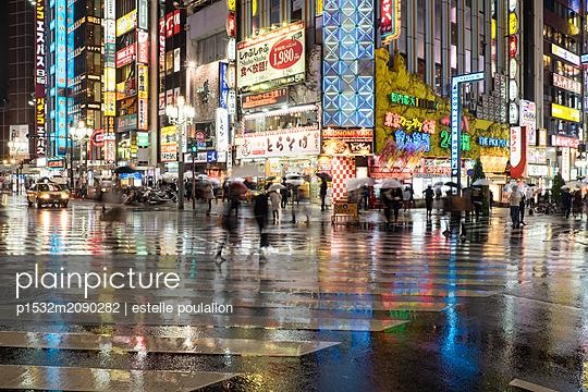 Straßenszene in Tokio - p1532m2090282 von estelle poulalion