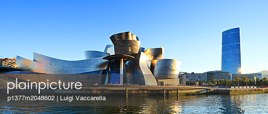 The famous building designed by architect Frank Gehry - p1377m2048602 by Luigi Vaccarella