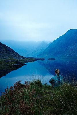 Blick auf die Cuillin Hills - p1145m1590885 von Kerstin Lakeberg