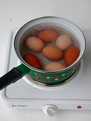 Sieben gekochte Eier - p1650232df von Andrea Schoenrock