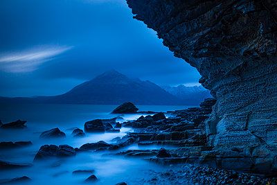Misty Tide, Elgol, Isle of Skye, Highland Region, Scotland - p651m2006857 by Tom Mackie