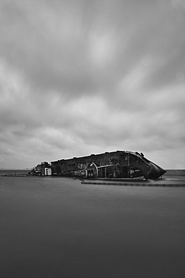 Wreck at the seaside - p1561m2150183 by Andrey Cherlat
