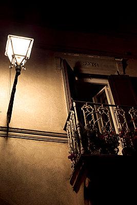 Illuminated balcony - p432m702614 by mia takahara
