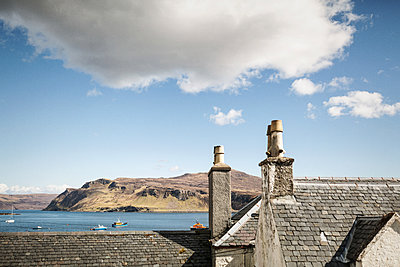 Looking out over the rooftops of Portree - p1477m2038992 by rainandsalt