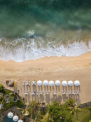 Indonesia, Bali, Nusa Dua, Aerial view of Nikko beach - p300m2042570 by Konstantin Trubavin