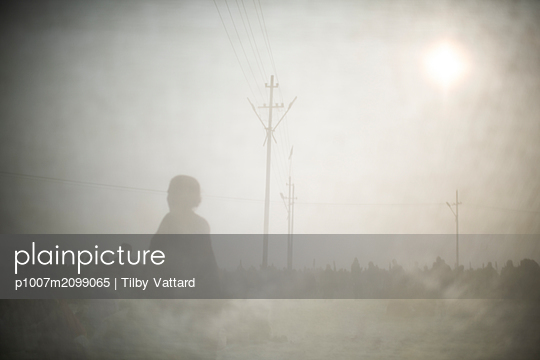 Blurred silhouettes  - p1007m2099065 by Tilby Vattard