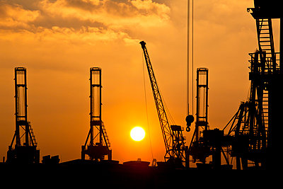Cranes in Hamburg - p4880385 by Bias