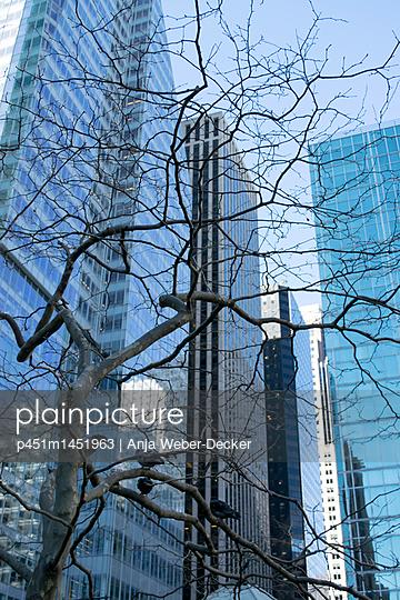 Midtown Manhattan, Wolkenkratzer am One Bryant Parc - p451m1451963 von Anja Weber-Decker