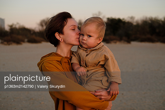 Mother and son - p1363m2142790 by Valery Skurydin