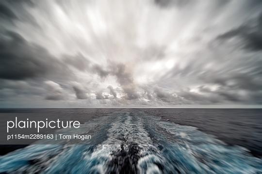 Cruise ship wake - p1154m2289163 by Tom Hogan