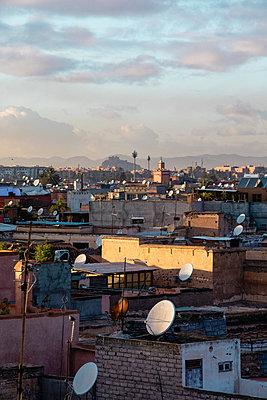 Morocco, Rooftops, Marrakesh - p1253m2152617 by Joseph Fox
