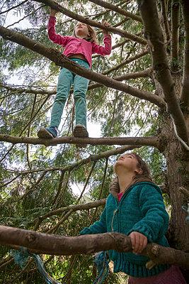 Children climbing in tree - p1231m1138064 by Iris Loonen