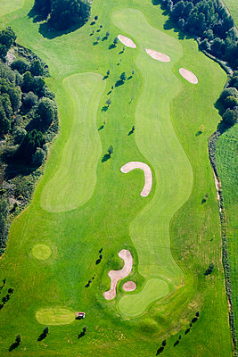 Aerial view of a golf course - p575m1074812f by Roine Magnusson