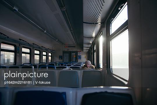 Child on on a train - p1642m2216181 by V-fokuse