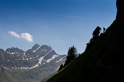 Hiker in the Apls - p282m953210 by Holger Salach