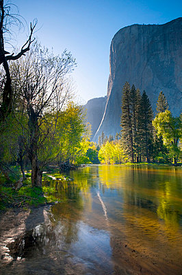 Cathedral Beach, Yosemite National Park, UNESCO World Heritage Site, California, United States of America, North America - p8713680 by Alan Copson
