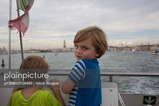 Kid in Venice - p1308m2126469 by felice douglas