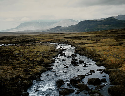 Leirvogsa river, near Thingvellir, Iceland - p1028m2043547 by Jean Marmeisse