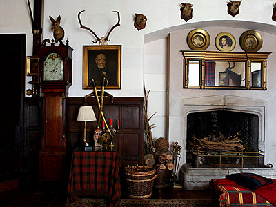 Fireplace of Grade I listed Elizabethan manor house in Kent  - p349m789804 by Brent Darby