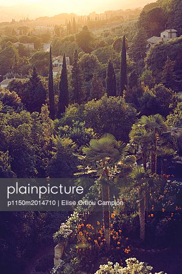 Landschaft bei Sonnenuntergang - p1150m2014710 von Elise Ortiou Campion