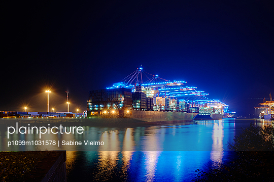 Hamburg Harbour - p1099m1031578 by Sabine Vielmo
