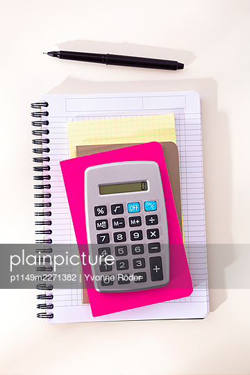 Calculator and notebooks - p1149m2271382 by Yvonne Röder