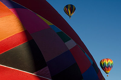 The Albuquerque International Balloon Fiesta draws spectators from around the world.  - p343m958142 by Jeremy Wade Shockley