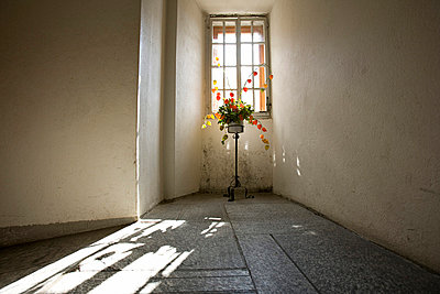 A window in Hospice du Grand Saint-Bernard in Switzerland  - p3313585 by Andrea Alborno