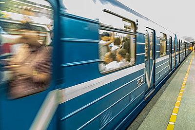 U-Bahn in Russland St. Petersburg - p524m2125289 von PM