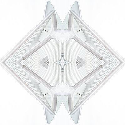 Abstract kaleidoscope pattern Liège-Guillemins station in Liège - p401m2209309 by Frank Baquet