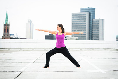 Yoga on a rooftop - p890m932928 by Mielek