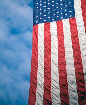 American Flag and Blue Sky - p6941428 by Snap Decision