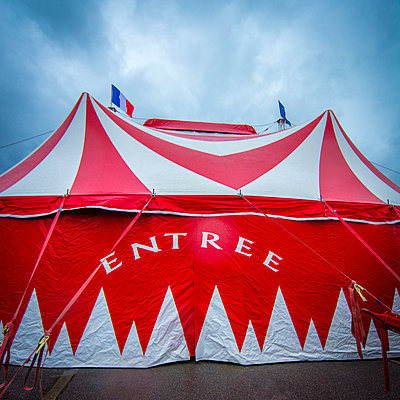 Entrance of a circus - p813m1120004 by B.Jaubert