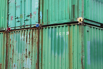 Stacked cargo containers - p1100m876375f by Paul Edmondson