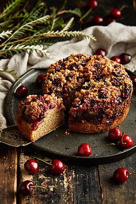 Fresh cherry cake - p1640m2261062 by Holly & John