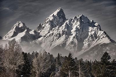 The Teton Mountain Range - p343m1088976 by Marc Pagani