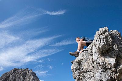 Mindelheimer Klettersteig, Schafalpenkopf - p427m859411 von R. Mohr