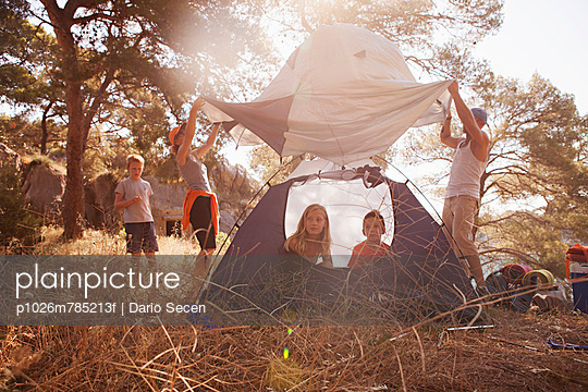 Family holidays on camp site