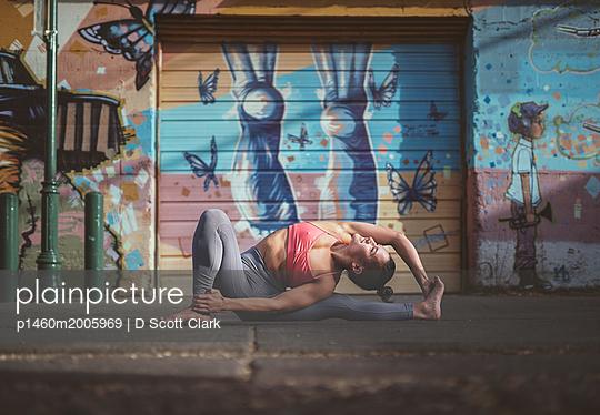 Gelenkige Frau - p1460m2005969 von D Scott Clark