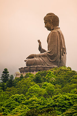 Tian Tan (Altar of Heaven), The Big Buddha and Po Lin Monastery, Lantau Island, Hong Kong, China, Asia - p871m2023422 by Michael DeFreitas
