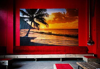 Panoramatapete eines Sonnenuntergangs - p627m1035385 von Christian Reister