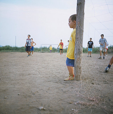 Children playing football - p7090035 by Axel Kohlhase
