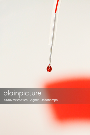 Drop of Blood - p1307m2253128 by Agnès Deschamps