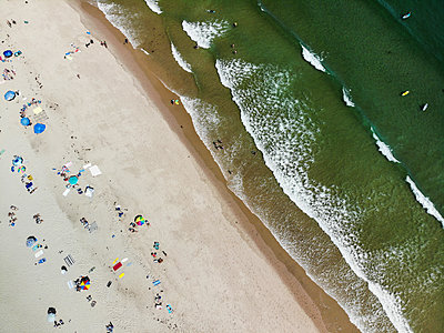Aerial view of Nauset Beach, Cape Cod, Maryland, USA - p343m2046820 by Steele Burrow
