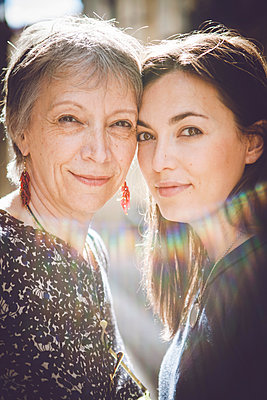 mother and daughter - p1150m1203655 by Elise Ortiou Campion