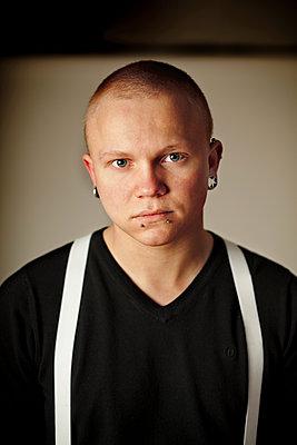 Portrait of young man - p1185m1078003f by Adam Haglund